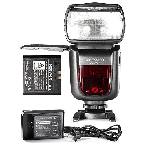 Neewer 2.4G Wireless 1/8000 HSS TTL Master Slave Flash Speedlite with 2000mAh Li-ion Battery for Sony A77II A7RII A7R A58 A99 A6000 Camera with New Mi Shoe NW860IIS by Neewer