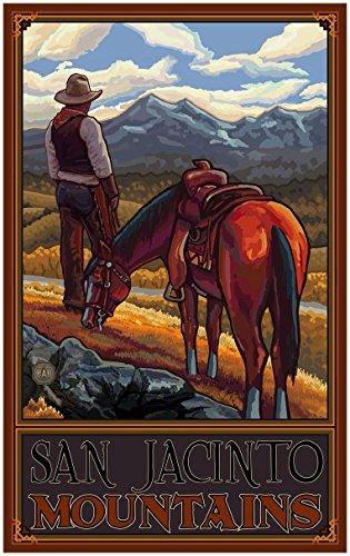 San Jacinto Mountains Travel Art Print Poster by Paul A. Lanquist (30