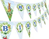 Peter Rabbit Happy Birthday Banner Pennant