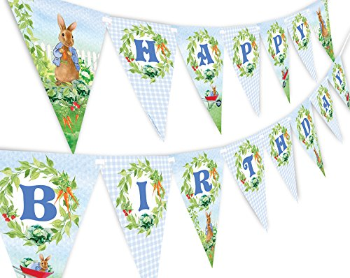 Peter Rabbit Happy Birthday Banner Pennant]()
