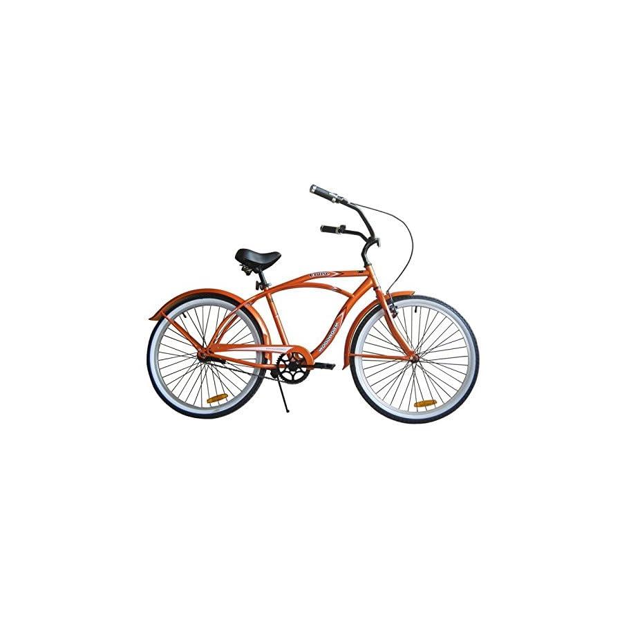 "Woodworm 26"" Mens Beach Cruiser Bike Orange"
