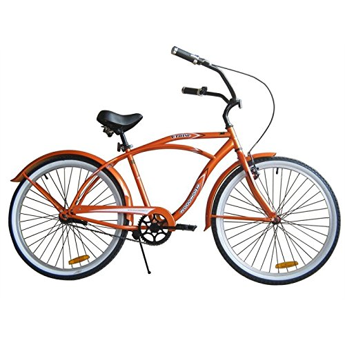 "Woodworm 26"" Mens Beach Cruiser Bike Orange"