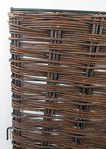 Woven Willow Hurdle Panel Gate, iron rod framed. 30