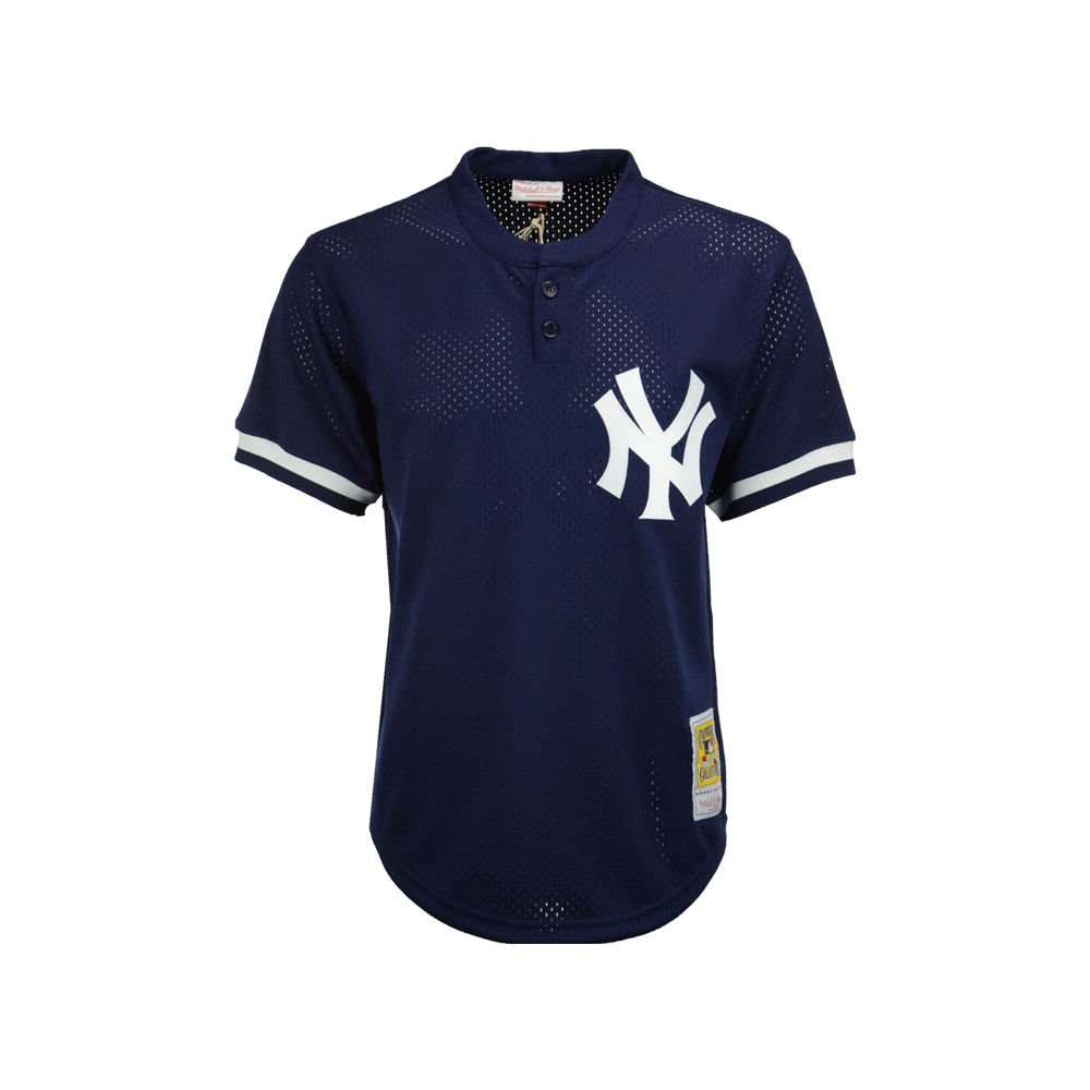 4d31bc2f7e3 Amazon.com   Mitchell   Ness Mariano Rivera Navy New York Yankees Authentic  Mesh Batting Practice Jersey   Sports   Outdoors