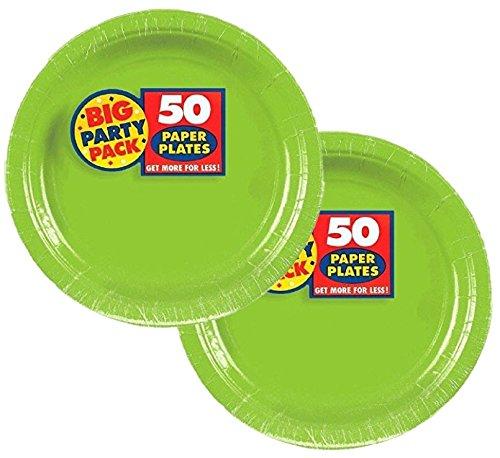 Kiwi Big Party Pack Dessert Plates (100 Pack)