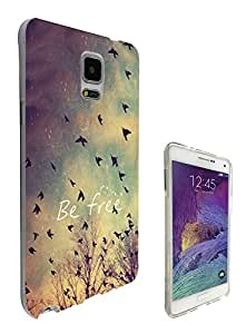 555 - Cool Be Free Birds Sky and Clouds Cute Natural Look Design Samsung Galaxy Note 5 Fashion Trend CASE Gel Rubber Silicone All Edges Protection Case Cover