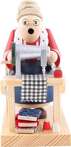 KWO Sewing Grandma German Christmas Incense Smoker Handcrafted in Germany New by KWO