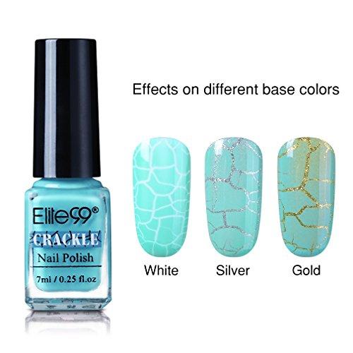 Elite99 Soak Off UV LED Cracked Nail Polish, Long Lasting Co