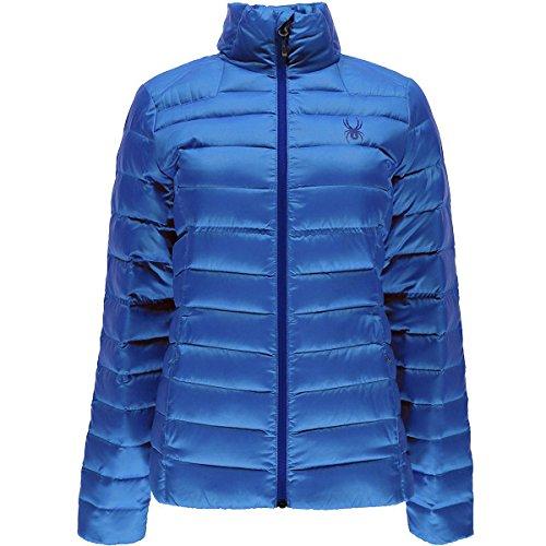 Spyder Prymo Down Jacket - Women's Blue My Mind/Black, S (Spyder Jackets Snowboarding)