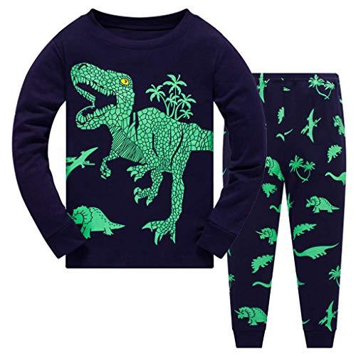 Babykledingset voor pasgeborenen, baby, jongens, dinosaurus, print, tweedelige pyjama, lange mouwen, tops + broek…