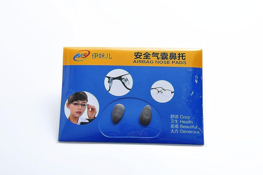 De Ding Titanium Nose Pads for Eyeglasses Heart Shape 3 Pairs