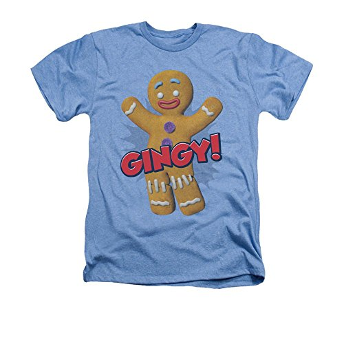 Sons of Gotham Shrek Gingy Adult Regular Fit Heather T-shirt S