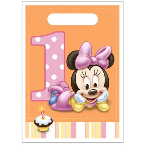 Minnie Mouse 1st Birthday Favor Bags (8ct)