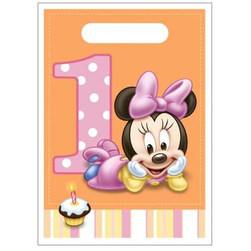 Minnie Mouse 1st Birthday Favor Bags (Minnie Mouse Birthday Treats)