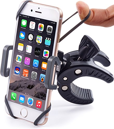 Honda Atv Mount (Bike & Motorcycle Phone Mount - For iPhone 7 (5, 6, 6s Plus), Samsung Galaxy or any Cell Phone - Universal ATV, Mountain, City & Road Bicycle Handlebar Holder. +100)
