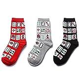 Yu He Womens Novelty Socks Mahjong Themed Socks Funny Patterned Casual Colorful Silly Cool Socks