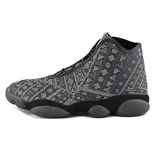 Jordan Horizon Premium Men Sneakers In Pelle Marrone Tinta Unita Nere / Viola / Grigie
