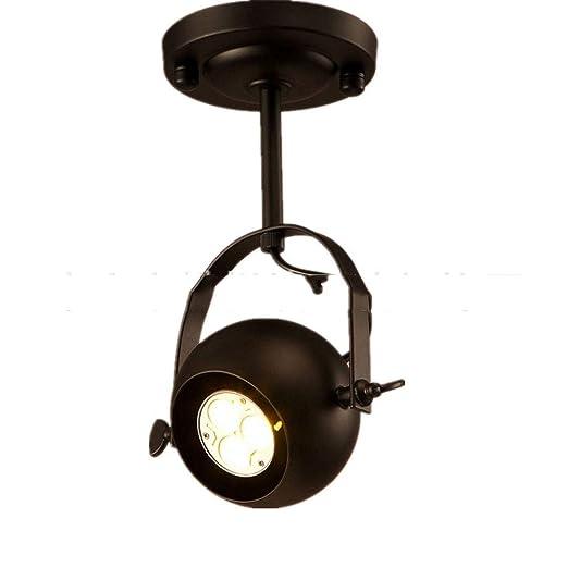 skoy iyue Lámpara LED Colgante Retro Estilo Industrial Hierro Arte ...
