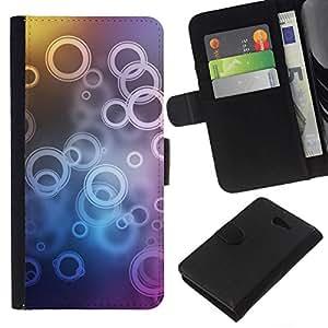 // PHONE CASE GIFT // Moda Estuche Funda de Cuero Billetera Tarjeta de crédito dinero bolsa Cubierta de proteccion Caso Sony Xperia M2 / Ring Pattern /
