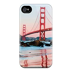WOL1707Ergc BlingCaseIn Golden Gate Durable Iphone 4/4s Tpu Flexible Soft Case