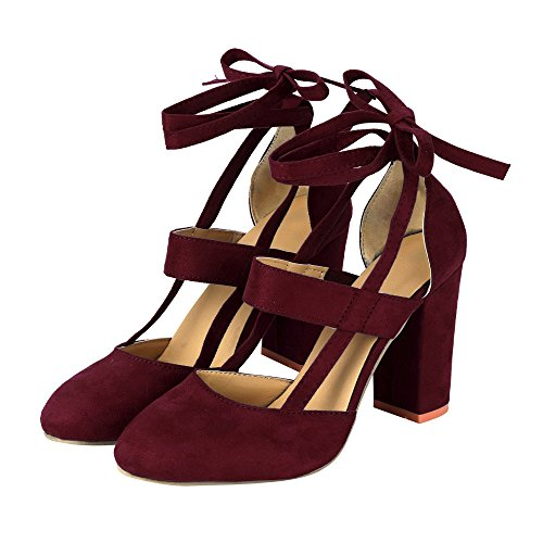 Sandal Fashion for Heeled Strap Women's Red Dress Ankle Party MRELT Sandal Sale Wedding Clearance qv4twzq