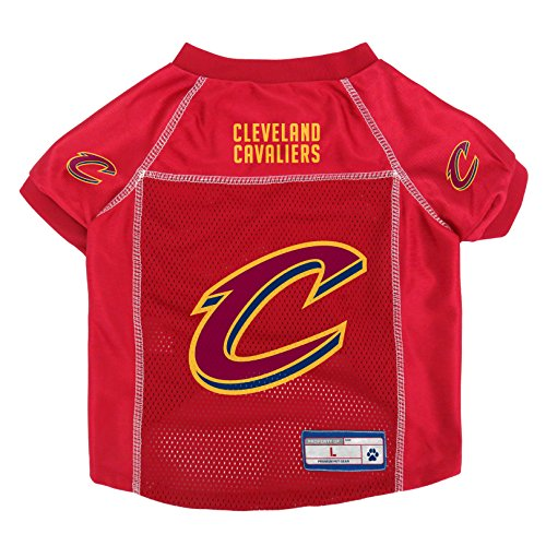 Cleveland Cavaliers Official NBA Pet Jersey Size L by Little Earth 875060 by Littlearth