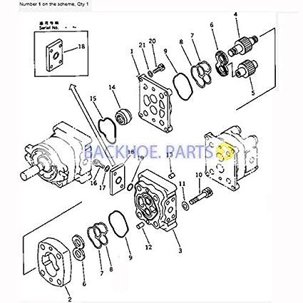 Amazon Com For Komatsu Excavator Pc40 6 Hydraulic Pump 705 41 08010