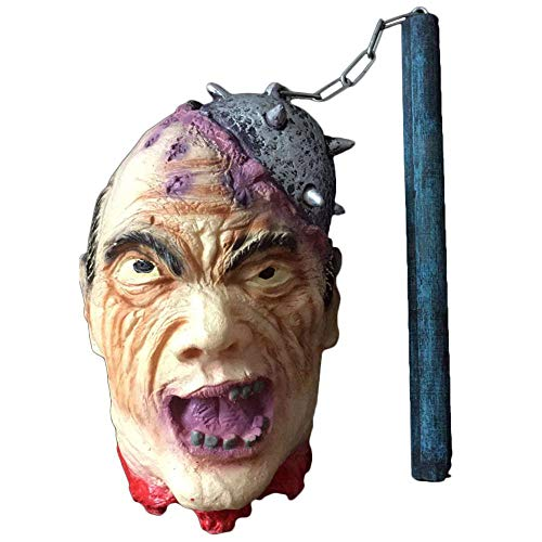 Umiwe Halloween Props Horror Hanging Severed Head - Scary Animated Severed Head Cut Off Corpse Head, Gruesome Zombie Decapitated Head Indoor & Outdoor Halloween Decorations -