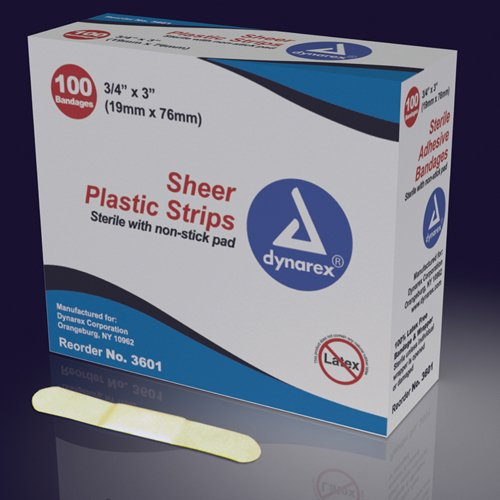 SPECIAL PACK OF 3-Adhesive Bandages Sterile Butterfly 1/2 x2-3/4 Bx/100