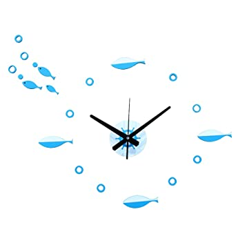Office room diy decoration blue Pinterest Vorcool Diy Wall Clock Fish Combination Mute Clock For Bedroom Living Room Home Office Decor Amazoncom Amazoncom Vorcool Diy Wall Clock Fish Combination Mute Clock For