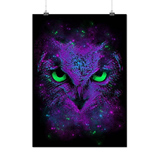 [Amazing Wild Owl Fun Giant Bird Matte/Glossy Poster A4 (9x12 inches) | Wellcoda] (Bear Jew Costume)