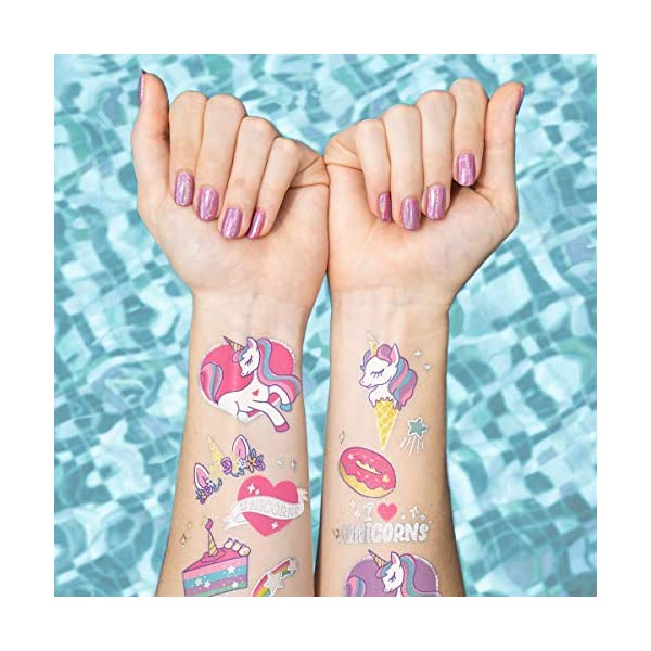xo, Fetti Unicorn Party Supplies Temporary Tattoos for Kids - 36 Glitter Styles | Unicorn Party Favors and Birthday Decorations + Halloween Costume 5