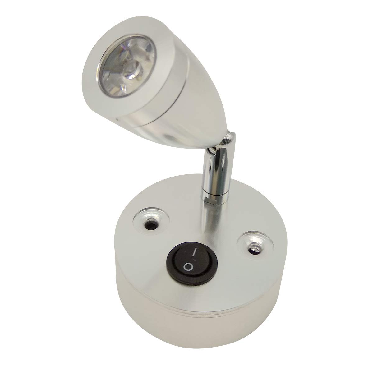 Vosarea LED Reading Lights with Brushed Nickel Lampshade Warm Lighting 2 Pcs 3000K 3W 24V