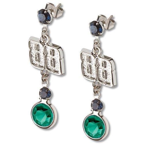 Dale Earnhardt Junior #88 Crystal Logo Earrings
