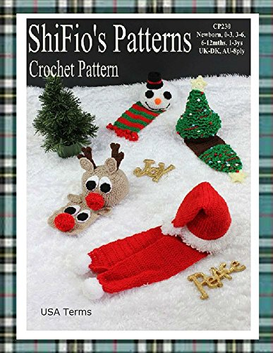 Crochet Pattern - CP230 - Baby Christmas Hats & Scarfs -  Newborn, 0-3, 3-6, 6-12,1-3ys - USA Terminology Christmas Tree Crochet Hat Pattern