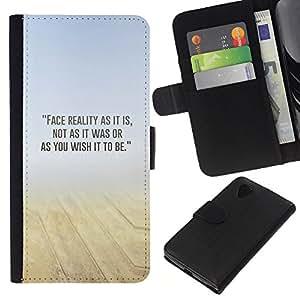 KLONGSHOP // Tirón de la caja Cartera de cuero con ranuras para tarjetas - Arena Desierto Mist Amarillo Azul N Naturaleza - LG Nexus 5 D820 D821 //