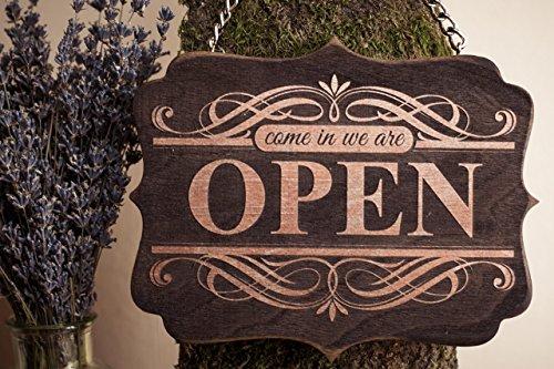 Shop window sign Open-Closed, Door sign open-closed, Come in we are open sign, Open closed sign for business, Open-Closed vintage sign