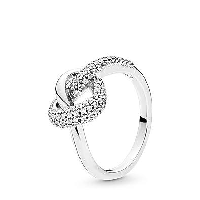 dfa196f12ff0f Amazon.com: PANDORA Knotted Heart 925 Sterling Silver Ring ...