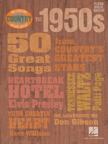 The 1950s - Country Decade Series (Hal Leonard Country Decade Series) - Jambalaya Music Book