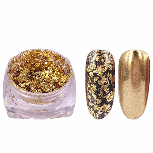 Glitter Aluminum Flakes Magic Mirror, Effect Powders Sequins Nail