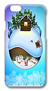 Coolest iPhone 6 Cases, Snowy Christmas PC Hard Case Cover for Apple iPhone 6 (4.7 INCH) - 3D Design iPhone 6 Case