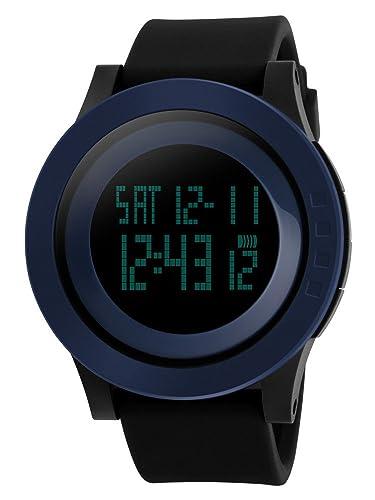 c436a04dcd SKMEI 腕時計 メンズ おしゃれ シンプル デジタル 3気圧防水 LED 日付 曜日 アラーム クロノグラフ カレンダー