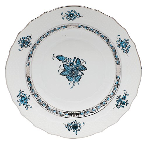 Herend Chinese Bouquet Turquoise Salad Plate ()
