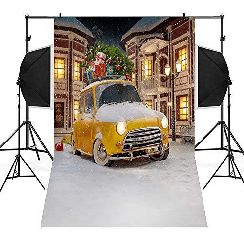 MSOO Christmas Backdrops Snow Vinyl 3x5FT Background Photography Studio (E 90x150cm) -