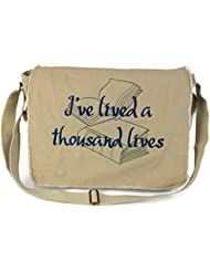 Dancing Participle A Thousand Lives Embroidered Putty Messenger Bag