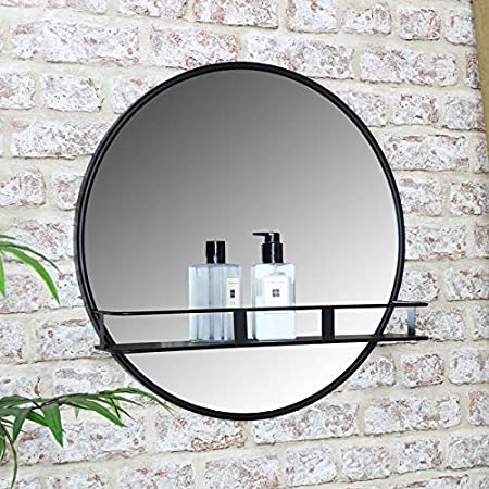 Fashionstyle Metal Vintage Decorative Round Wall Mirror With 2 Hooks Wall Mounted Mirrors Wall Mounted Mirrors