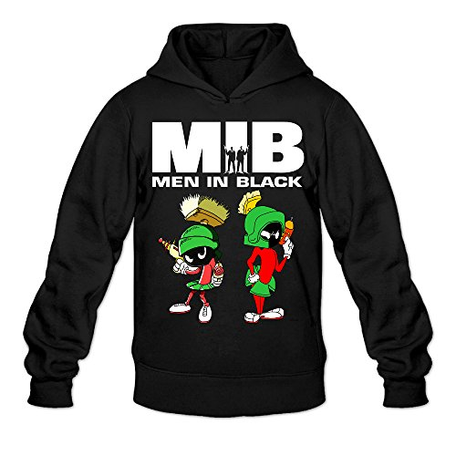 [AK79 Men's Hooded Sweatshirt Men In Black Marvin The Martian Size S Black] (Looney Tunes Martian Costume)
