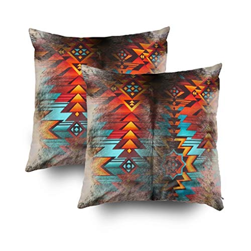 (Musesh Pack of 2 Leather Look Print Faux Animal Tooled Designs Western Southwestern Style Country Cowboy Cushions Throw Pillow Ccovers for Sofa Home Decorative Pillowcase 18X18Inch Pillow Covers)
