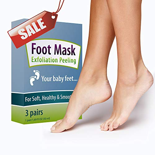 Foot Peel Mask Exfoliating (3 pairs) - Foot Peeling Mask (2 pairs) & Moisturizing Foot Mask (1 pairs), Make Your Feet Baby Soft, Peel Away Calluses and Dead Skin for Women & Men from BEAUTY ON LINE