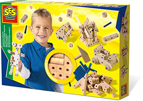 SES Creative Carpentry Wood Building Playset ()
